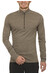 Icebreaker Men's Oasis LS Half Zip trail melange heat zip
